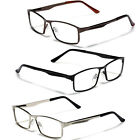 Large Size Mens Metal Rectangle Reading Glasses Spring Hinge Fashion Readers New