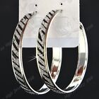 2016 New Female Fashion Jewelry Zebra Gold Silver Frosted Big Hoop Earrings Mix