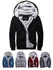Men's Stylish Winter Warm Long Sleeve Cotton Jacket Hooded Thickening Zip Coat
