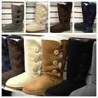 UGG WOMENS Bailey Button Triplet BOOTS new comfort authentic 3 BUTTON,ROLL DOWN