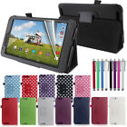 Premium Slim Folding Leather Flip Case Cover & Stand for Tesco Hudl 2 (8.3 inch)
