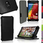 PU Leather Skin Stand Case for Motorola Moto G 2nd Gen XT1068 Flip Book Cover