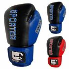 Sporteq Leather Boxing Sparring Gloves, Martial Arts, MMA