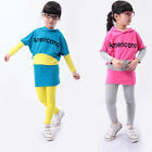 New suits 2pcs spring Kids Girl sets outfits Dress T shirt+pants baby Clothing