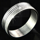 2015 New 316L Stainless Steel Silver Frosted Rings Fashion Women Men's Jewelry