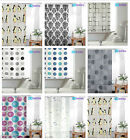 Shower Curtain with Ring Hooks, PEVA Bathroom Shower Curtains, 180 x 180 cm