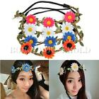 Boho Floral Flower Festival Wedding Party Garland Hair Band HeadBand Forehead