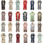 Print Scarf Women Winter Warm Soft Shawl Wrap Stole Pashmina Neck Vintage Animal