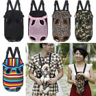 Fashion Pet Puppy Dog Cat Canvas Backpack Front Tote Carrier Travel Net Bag New