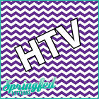 CHEVRON STRIPES PATTERN Purple & White HTV #1 Chevron Heat Transfer Vinyl