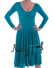Sexy Teal Blue Velvet Ballroom Waltz Dance Midcalf Long Dress Costume S-2XL