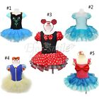 Girls Leotard Ballet Tutu Dancewear Skirt Dress Kids Fancy Dress Up Costume