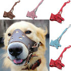 Adjustable Leather Dog Muzzle Pet Adjustable Dog Muzzle Prevent Bite Mouth Mask