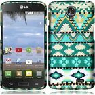 For LG Access L31G Rubberized HARD Protector Case Phone Cover + Screen Guard