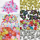 24/50/100 Alphabet Letter Charms Beads For Rainbow Loom Rubber Bands Bracelet