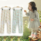 J09 New Kids Girls Pants Floral Lace Patch Pants Children Girl fall/Spring Pants