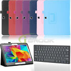 "For Samsung Galaxy Tab 4 10.1"" SM-T530NU Leather Case Cover + Bluetooth Keyboard"