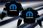 Mopar Racing Jacket Black Royal Blue Gen4 Logos Cotton Twill Jacket NEW