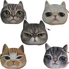 Kids Gift Cute Cat Face Zipper Case Coin Purse Wallet Makeup Bag Pouch Card Pack