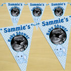 Personalised Blue Boy Baby Shower Party PHOTO Flag Banner Bunting N33