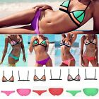 latest!! Sexy Womens Waterproof neoprene triangle bikini Swimsuit Swimwear S M L