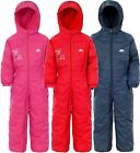TRESPASS CHILDS DRIPDROP ALL IN ONE PADDED WATERPROOF RAIN SNOW SUIT FREE POST