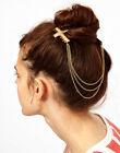 Fashion Personality beautiful multilayer tassel alloy cross combs Hair band