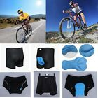 Men's Black Cycling Underwear Gel 3D Padded Bike Bicycle Shorts Pants XS-XXXL