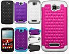 Alcatel OneTouch Pop Icon HYBRID IMPACT Dazzling Diamond Case +Screen Protector