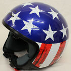 LS2 OF561 Raw Stars Stripes Custom Helmet Cruiser Chopper Bobber Twin visor pack