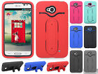 LG Optimus Exceed 2 VS450 Rubber Hybrid HARD Case Snap Tail STAND + Screen Guard