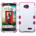 For LG Optimus Exceed 2 VS450 IMPACT TUFF HYBRID Case Skin Cover + Screen Guard