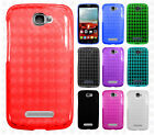 Alcatel OneTouch Pop Icon TPU CANDY Gel Flexi Skin Case Cover Plaid Accessory
