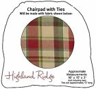 Highland Ridge Chairpad with Ties by Park Designs, Celtic Plaid, Pick One or Set