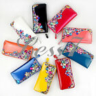 4 Colors Women's Genuine Leather Diamond Purse Clutch Bag Purse Zipper Wallet