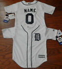 Detroit Tigers Cool Base MLB Majestic Kids 4/7  Replica Jersey add name number