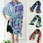 Vintage  Women Lady Bohemian Voile Soft Silk Scarf Large Beach Shawl Scarves New