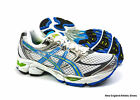 Asics Gel-Cumulus 12 (D) width running shoes for women - White / Blue / Lime