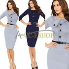 Women Celebrity Sexy Work Cocktail Evening Party Business Bodycon Pencil Dress