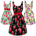 Voodoo Vixen  New Pretty Retro Floral Chintz 50s Party Prom Flared Swing Dress