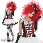 NEW TEEN GIRLS LADIES HARLEQUIN HONEY JESTER CLOWN HALLOWEEN FANCY DRESS COSTUME
