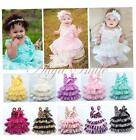 Baby Girls Toddler Layered Lace Tulle Tutu Fancy Birthday Party Dress Size 12M-3