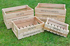 Personalised Hardwood Wooden Garden Apple Crate, Engraved Mother's Day Gift Idea
