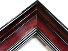 "1 3/4"" Wide High Gloss Cherry Plein Air Picture Frame-Custom Square Sizes"