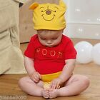 Baby Toddler Disney Winnie the Pooh Fancy Dress Costume Outfit Bodysuit and Hat