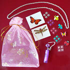 Girls Party Favours Loot Bag Fillers kids birthday lipgloss rhinestone necklace