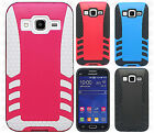 Samsung Galaxy Prevail LTE Rocket HYBRID Protector Rubber Cover + Screen Guard