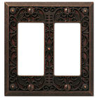 Arabesque Filigree Aged Bronze Switchplate Outlet Cover Wall Plates