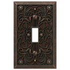 Внешний вид - Arabesque Filigree Aged Bronze Switchplate Outlet Cover Wall Plates