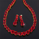 Swarovski Elements 18K Yellow Gold Plated Fashion Jewelry Set Necklace Earrings